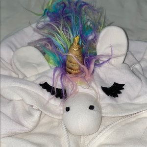 Hooded unicorn costume/pj